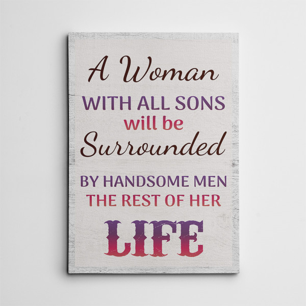 A Woman With All Sons canvas print