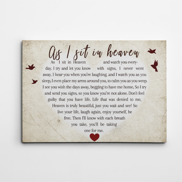 Cardinal As I Sit In Heaven Canvas Print