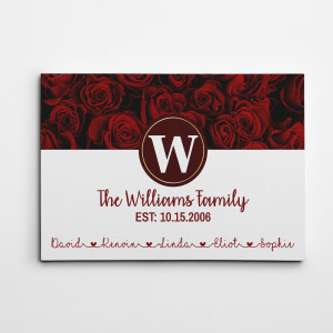Personalized Family Last Names Canvas Print