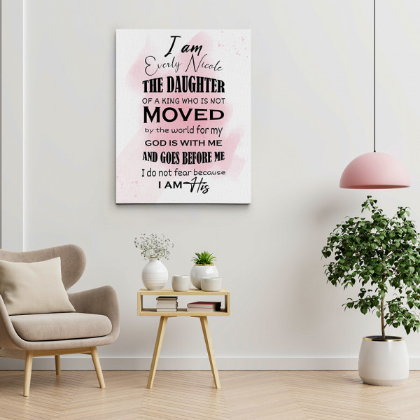 Daughter Of A King Custom Canvas Print
