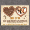 Dear Sister At Times I May Upset You Sometimes I Will Make You Mad Desktop Plaque