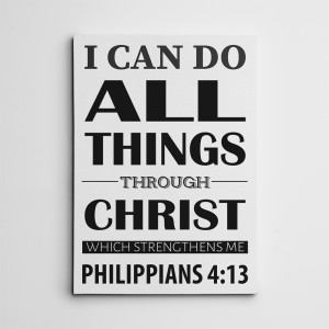 I Can Do All Things Through Christ Which Strengtheneth Me Christian Canvas Print