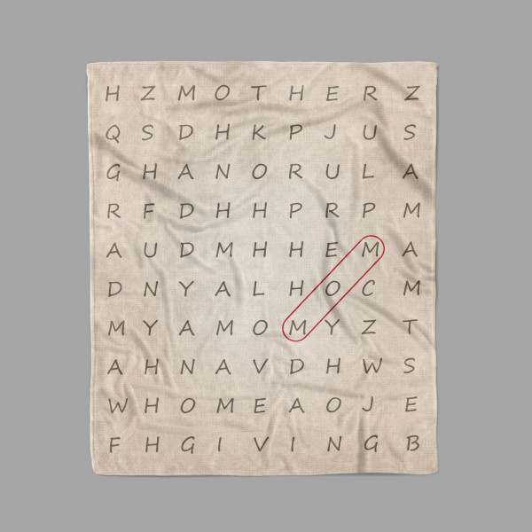 MOM Word Search Blanket
