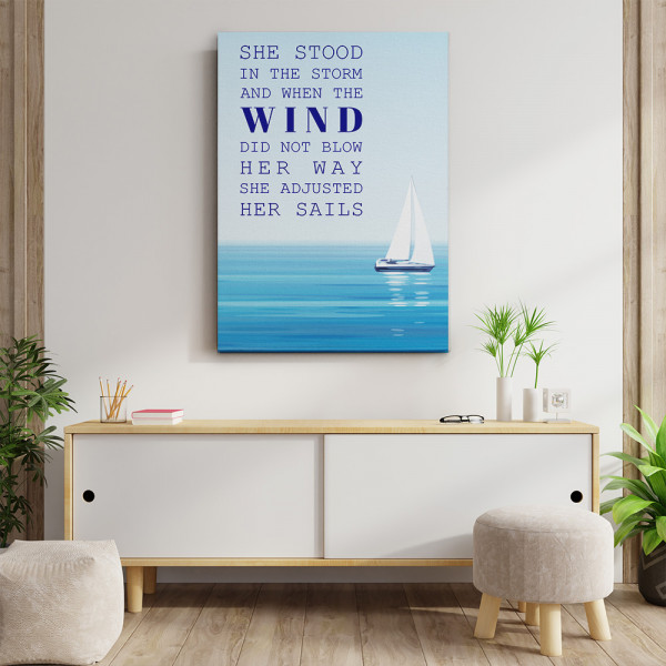 She Stood In The Storm Canvas Print