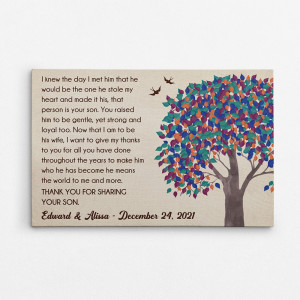 Mother Of The Groom Gift Personalized Canvas Print