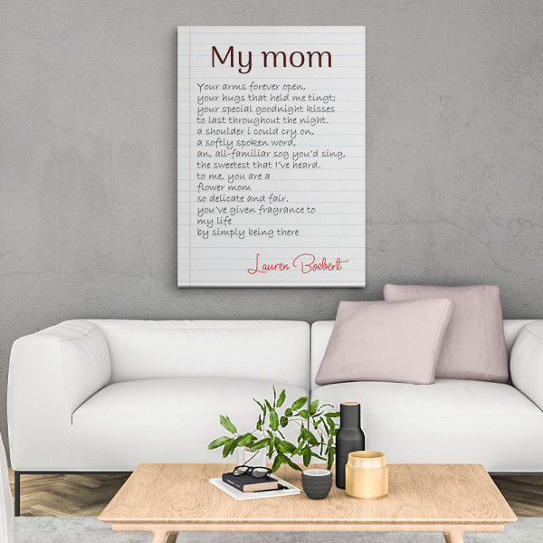 My Mom You've Given Fragrance To My Life Canvas Print