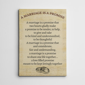 Marriage Is A Promise Canvas Print