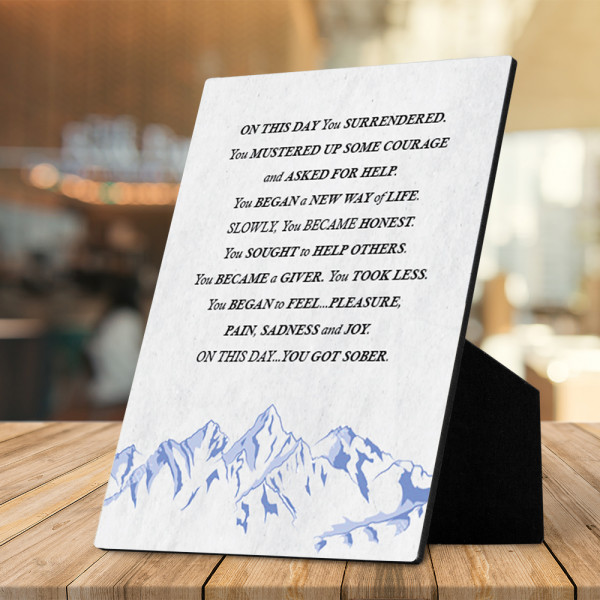 On This Day You Surrendered Desktop Plaque