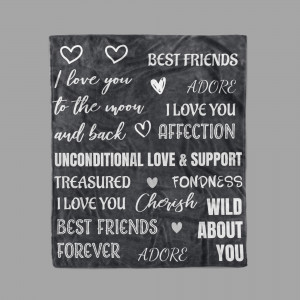 Best Friend I Love You To The Moon and Back Blanket