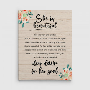 She Is Beautiful Deep Down To Her Soul Canvas Print