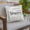 Sisters Are Forever Quote Word Art Pillow