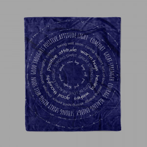Healing Thoughts with Inspirational Messages Blanket